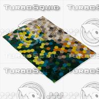 boconcept kaleidoscope rug 106071006300 3d model