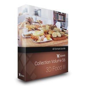 3d model 56 food