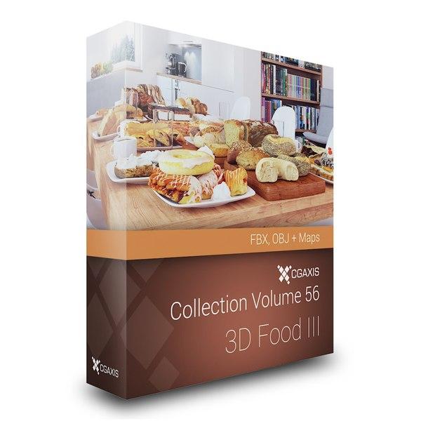 volume 56 food 3d fbx