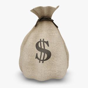 3d model money bag