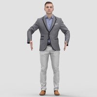 Justin Business Ready-To-Rig T-Pose 1 - 3D Human Model