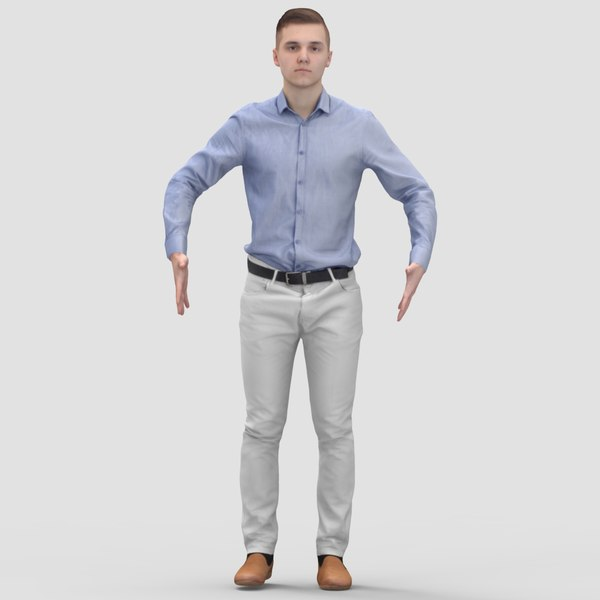 3ds max realistic human pose