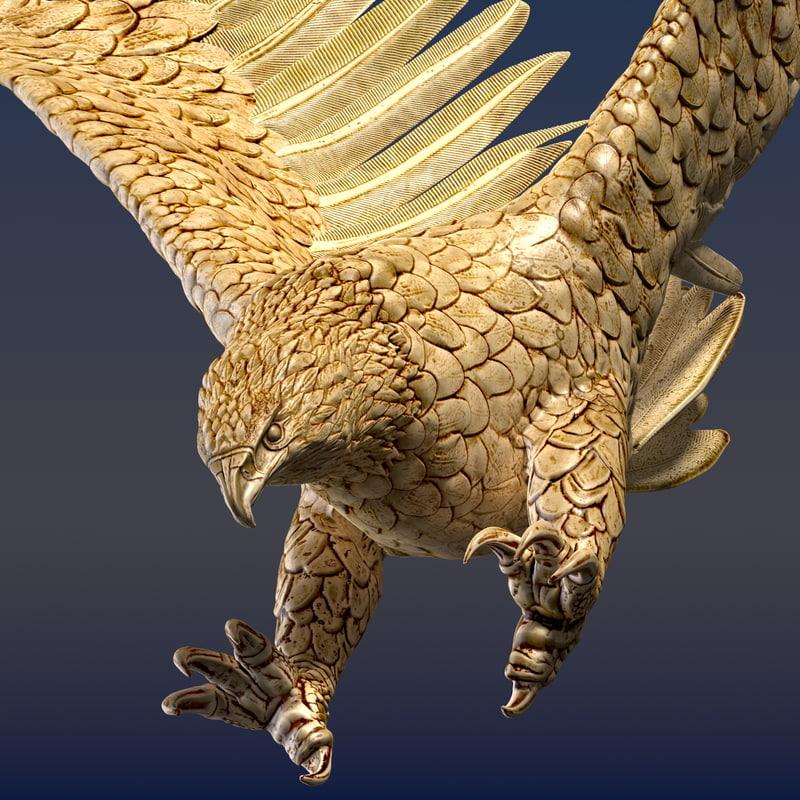 eagle ornamental 3d c4d