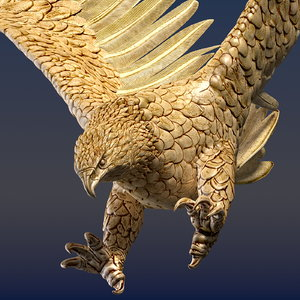 eagle ornamental 3d c4d