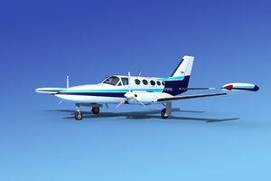 propellers cessna 414 chancellor 3d max