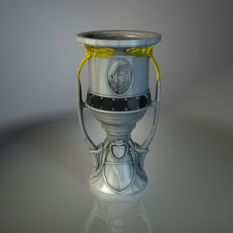 3d model of khl gagarin cup