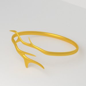modern golden ring branches 3ds free