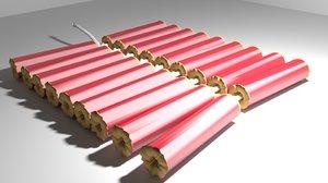 3d firecrackers model
