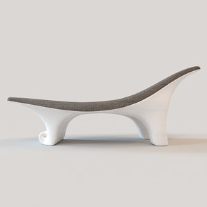wave wooden lounge 3d max