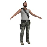 3dsmax guerrilla soldier games