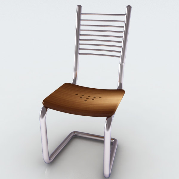 3ds max steel chair