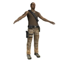 3d guerrilla soldier games model