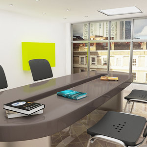 3ds max office room