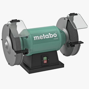 3d model bench grinder metabo ds