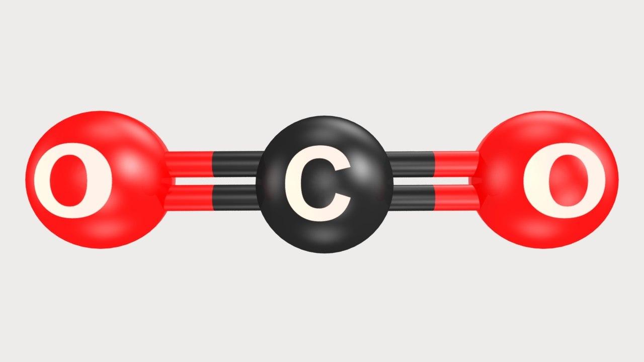 carbon dioxide 3d obj