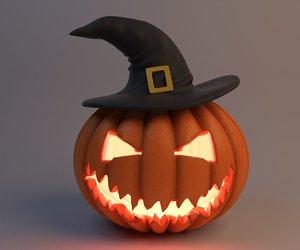 helloween pumpkin 3d model