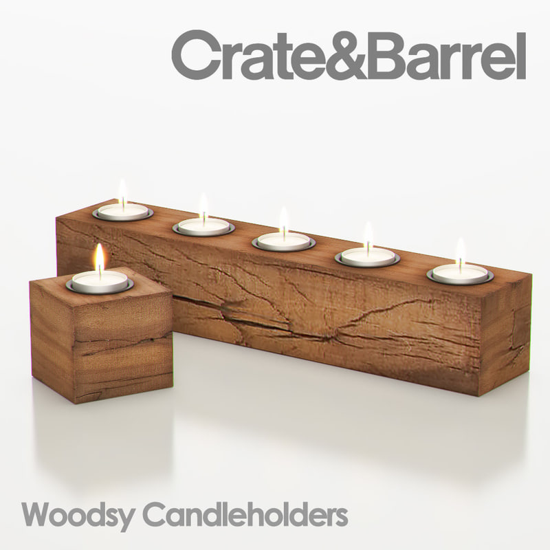 woodsy candleholder 3d max