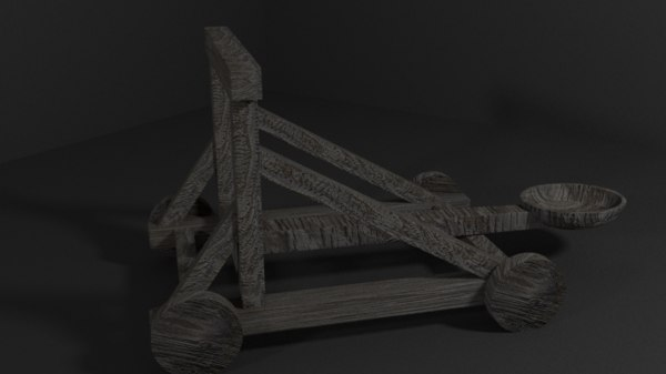 3d catapult medieval