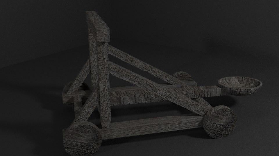 3d catapult medieval