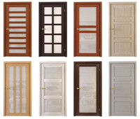 3d model set doors wood