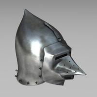 3d model hounskull helmet