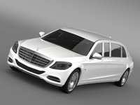 mercedes maybach pullman 2016 3d 3ds