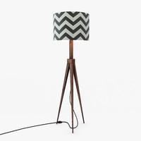 max slate chevron floor lamp