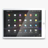 tablet smartphone 3d model