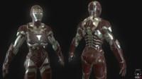 3d iron woman model