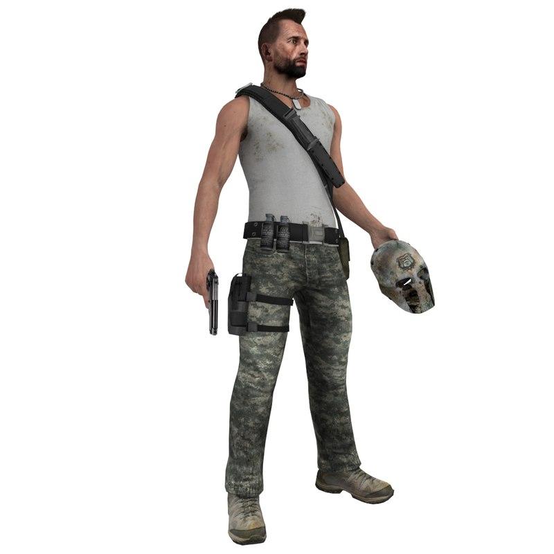 rigged guerrilla 3d max