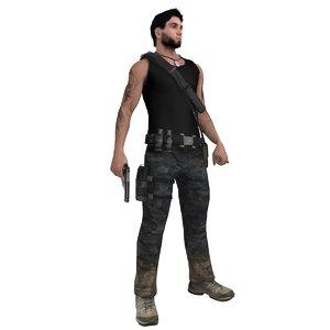 3d rigged guerrilla