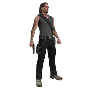 3d model guerrilla rigged