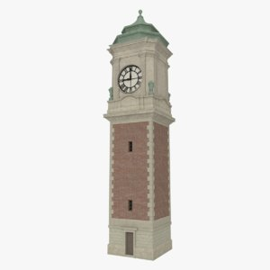 3ds max clock tower interior exterior