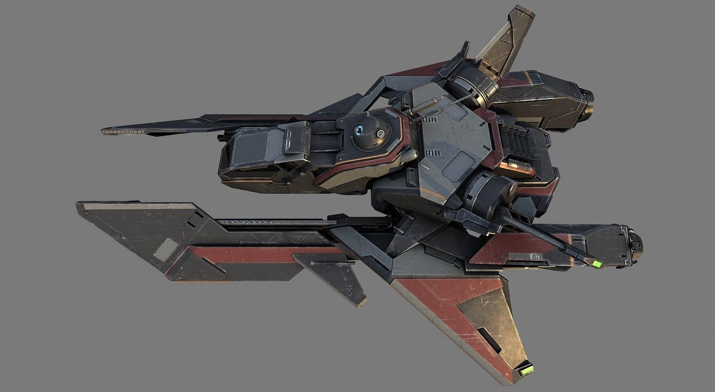 space spaceship 3d max