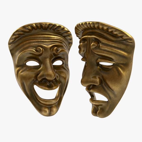 theatre masks 3d model