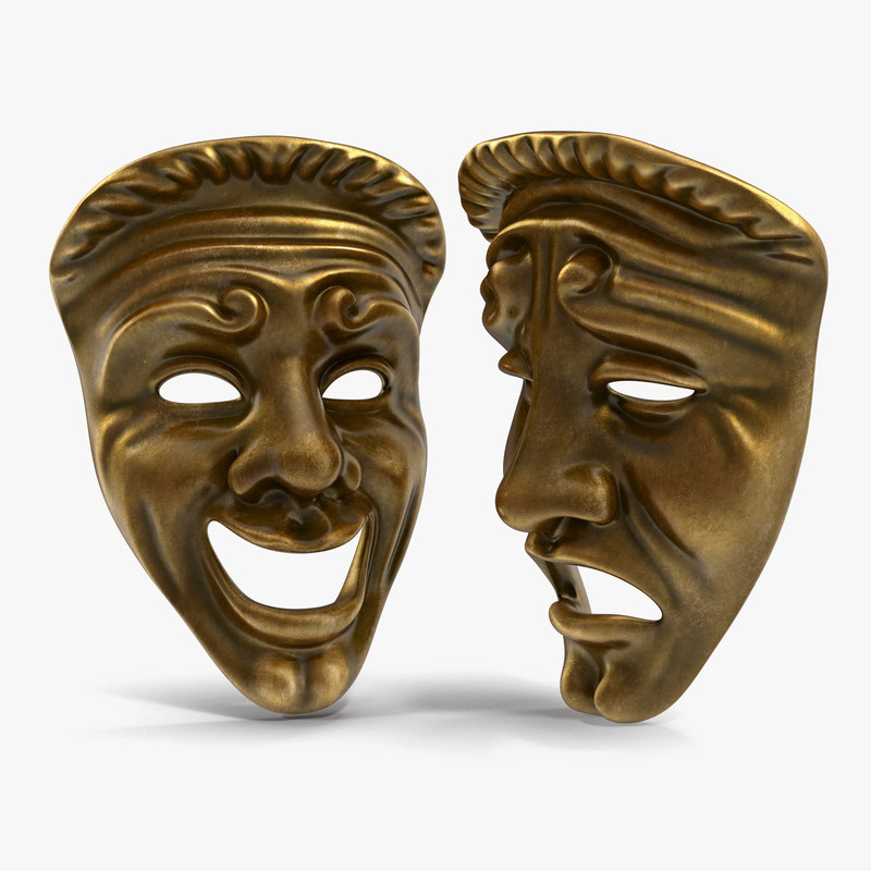 theatre masks 3d model