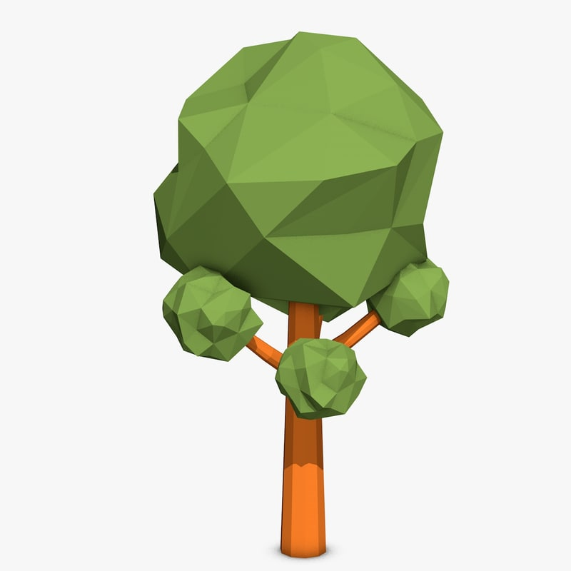c4d cartoon tree