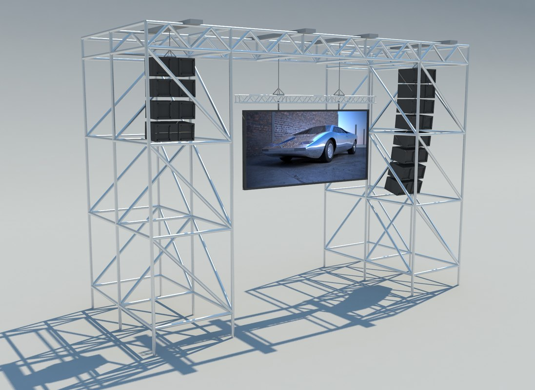 3d screen scene 8x6 model