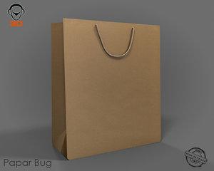 3d model realistic bag