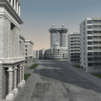 city modern architecture 3d model