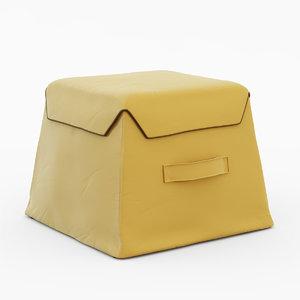 pouf airnova contemporaneo 3d model