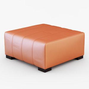pelle papaya pouf 3d model