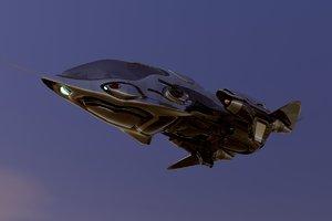 obj spaceship space