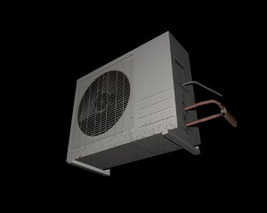 free air conditioner 3d model