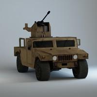 hummer h1 military 3d model