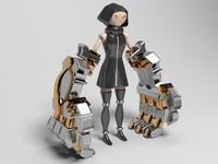 3ds max robot fist
