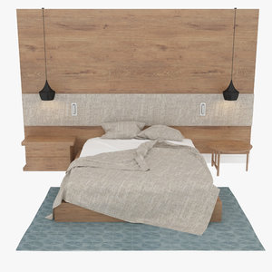3d model modern bedroom design
