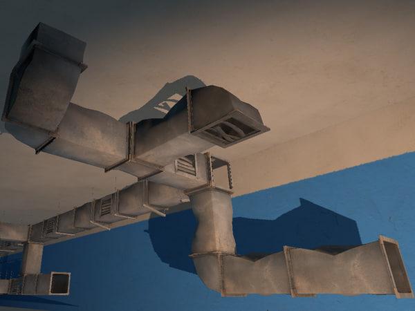 modular ventilation pipes 3d model