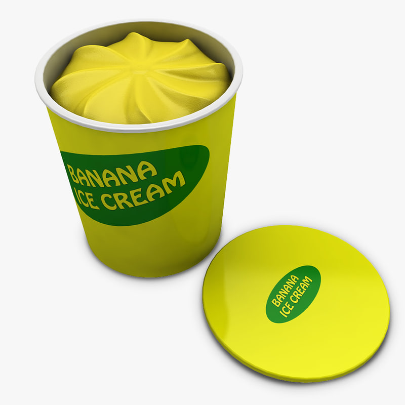 3d ice cream - model