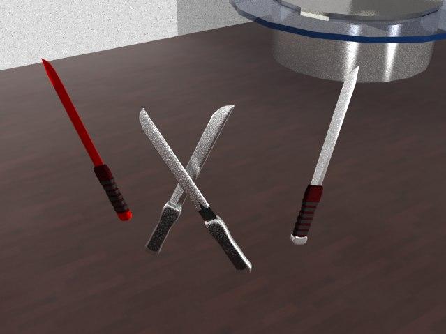 machetes modeled 3d model